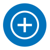 Icon with plus sign
